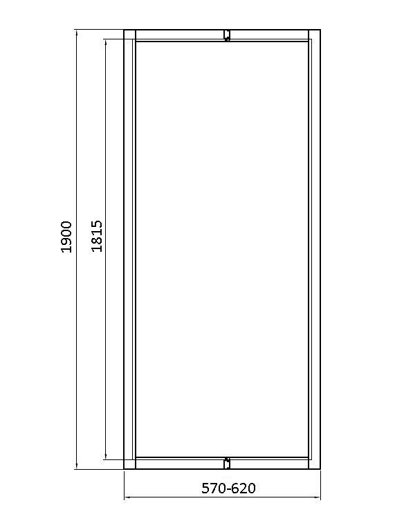 расширяющая панель для дверей Kolo Geo 6 60 см